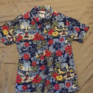 Disney Parks Authentic Boys surfing Mickey shirt